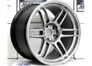 AME TRACER TM-02 18x10.5 +15 5-114.3 Hyper Silver *NEW SIZE*